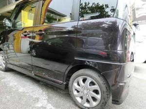 完成!車両保険での修理でしたので新品パーツでの修理となりました!ありがとうございました。